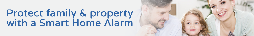 Protect family & property with smart home alarm